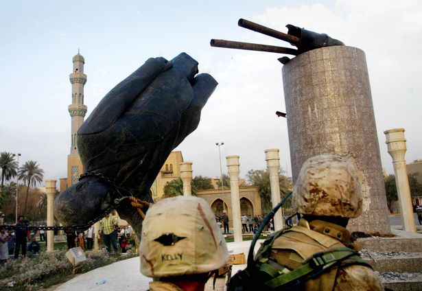 What was it like in Baghdad when Saddam Hussein's statue was toppled?  Defining moment vividly retold - World News - Mirror Online