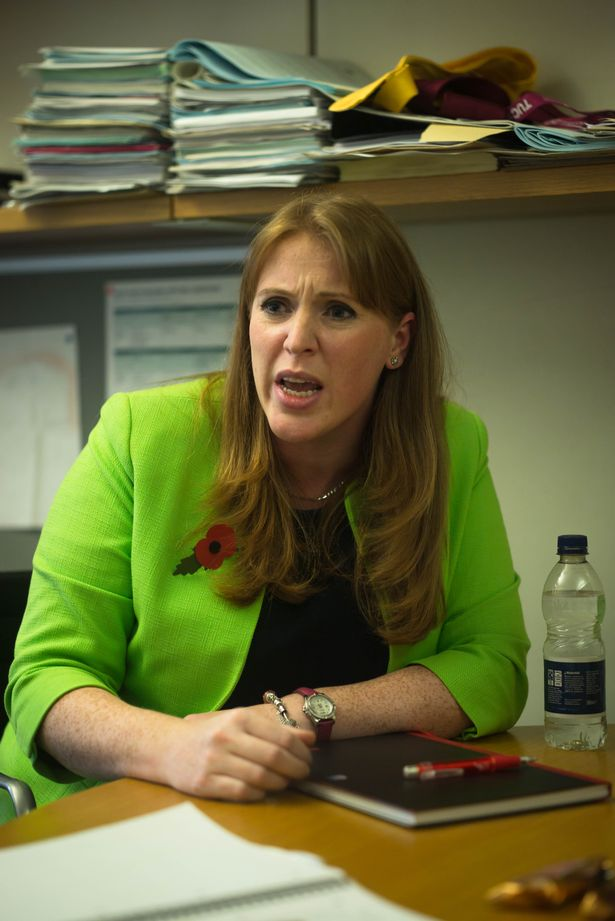 Angela Rayner M.P. for Ashton-under-Lyne and Shadow Secretary of State for Education in her office in Portcullis House