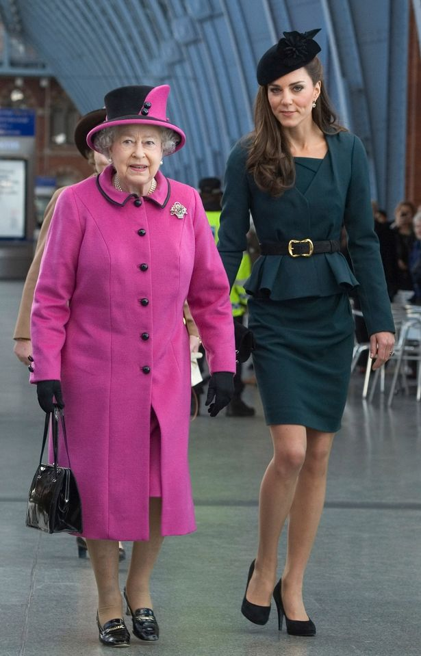 Queen Elizabeth II and Catherine, Duchess of Cambridge