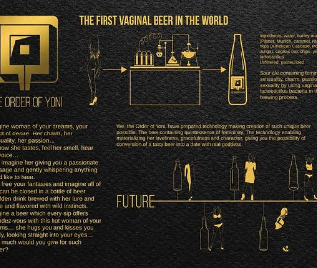 Vagina Beer Made With Essence Of Hot Underwear Models Goes On Sale For First Time Mirror Online
