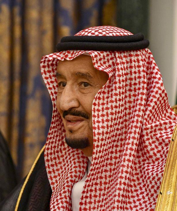 Saudi King Salman bin Abdulaziz Al Saud is pictured during a bilateral meeting with Mr Pompeo yesterday