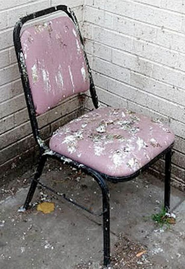 the chair by electric covered in pigeon poo sat outside hospital for three months was spotted a patient ago image dailyrecord ws