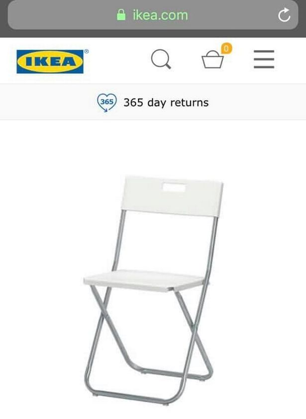ikea folding chair natuzzi recliner repair toddler s finger almost sliced off by popular 6 the which caused injuries image sophie marie bennett