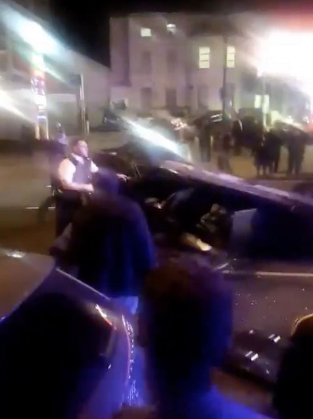 'Several people trapped' as car overturns during police chase on busy London street