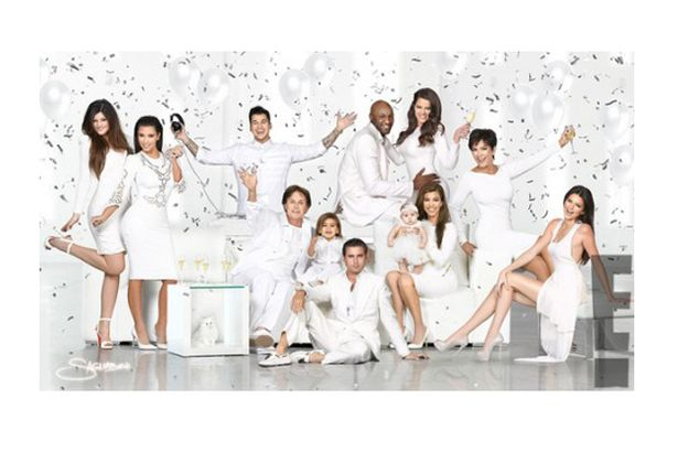Kardashian Family Christmas Card 2012 Kim Unveils New All