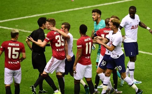 Man Utd 2 1 Tottenham Result Angel Gomes Scores Late