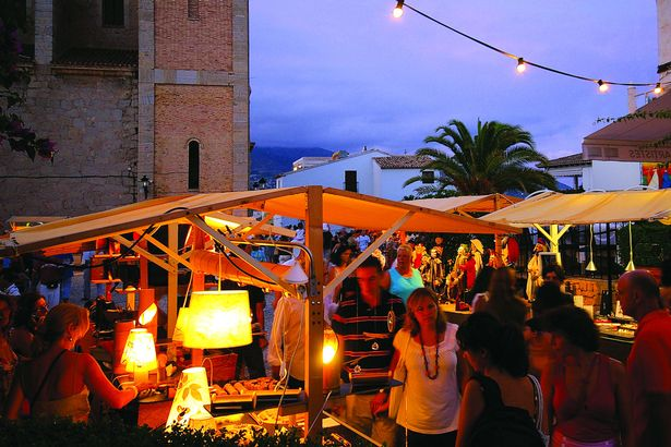 Altea night market on the Costa Blanca