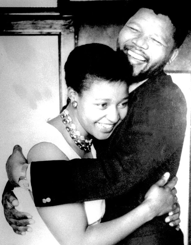Winnie was married to former South African President Nelson for 38 years, including the 27 years he served in jail