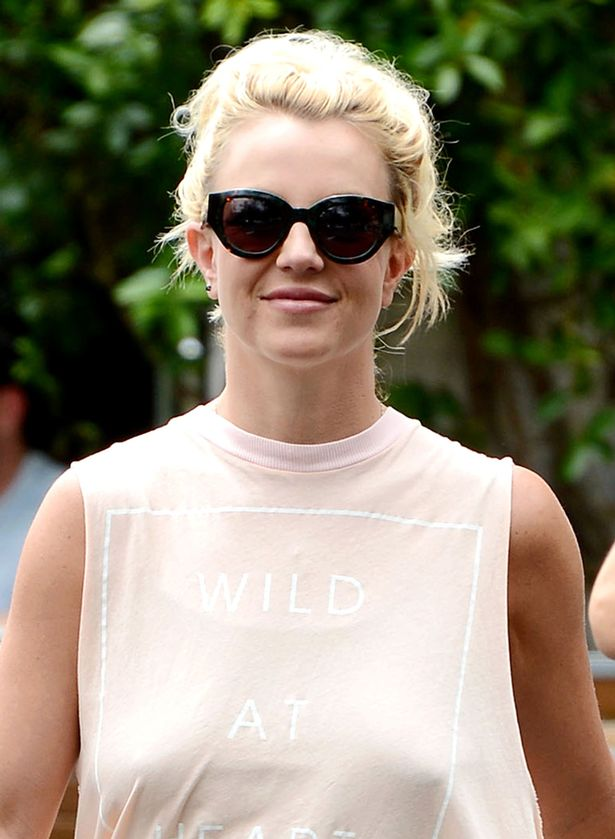 Britney Spears goes braless in Wild At Heart Tshirt