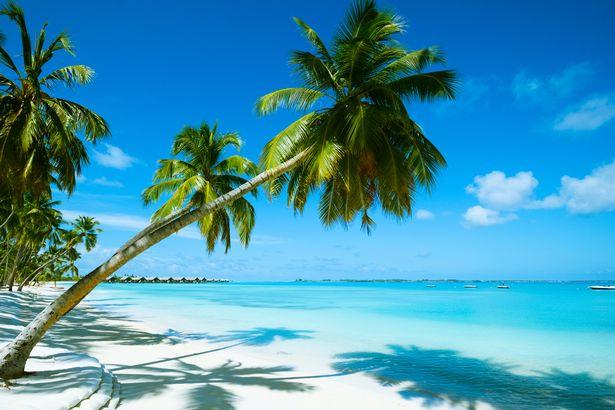 Ein wunderschöner Strand auf Mauritius