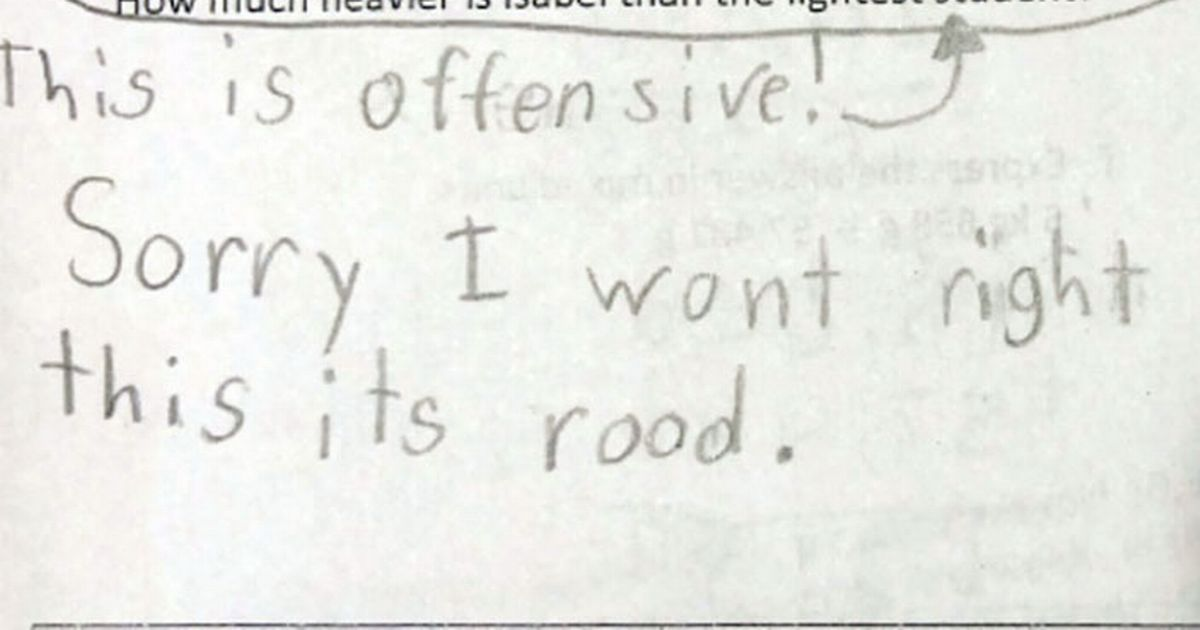 Girl, 10, who refused to answer 'rude' test question
