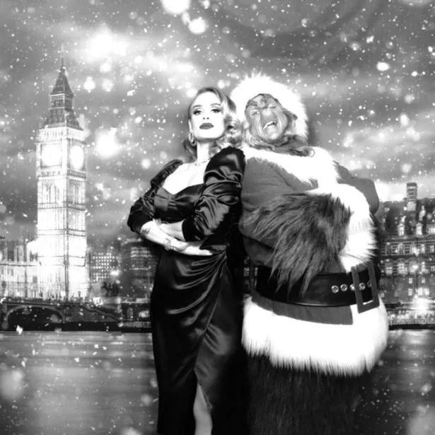 Adele showed off her slimmer figure before Christmas
