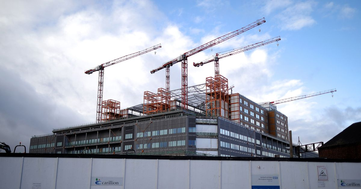 Two hospitals were struggling with Carillion for being 5 years late and £ 600 million over budget