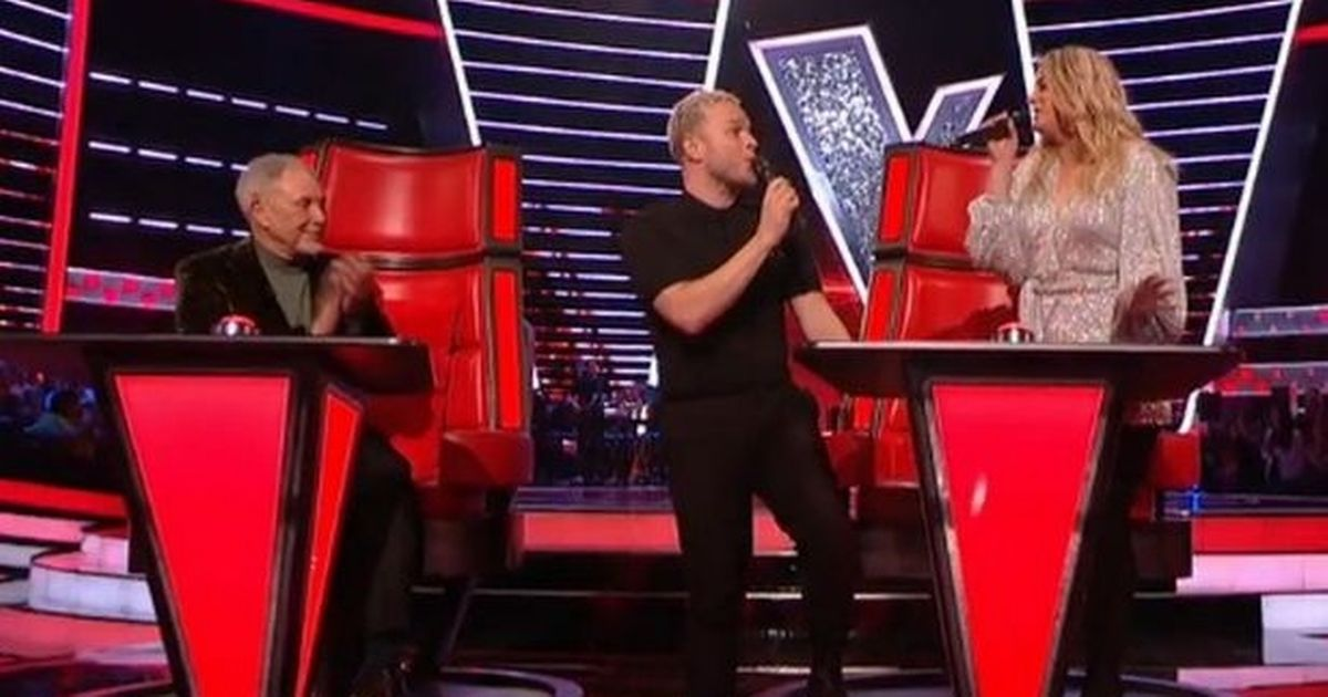 "Olly Murs accuses Meghan Trainor of ""copying"" her song in an awkward conversation on The Voice"