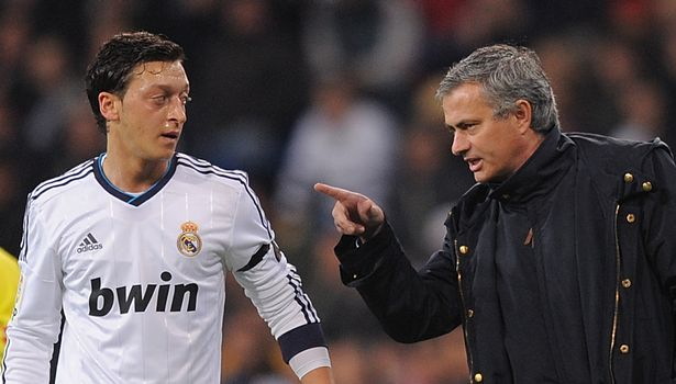 Ozil and Mourinho have a checkered history of their time together at Real Madrid