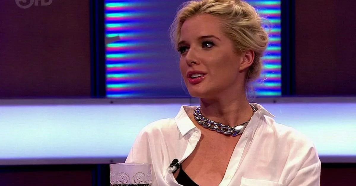 Helen Flanagan wardrobe malfunction her bra slips out on