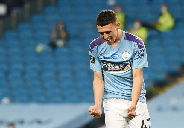 Phil Foden got on the scoresheet for Man City in last week's 3-0 win over Arsenal