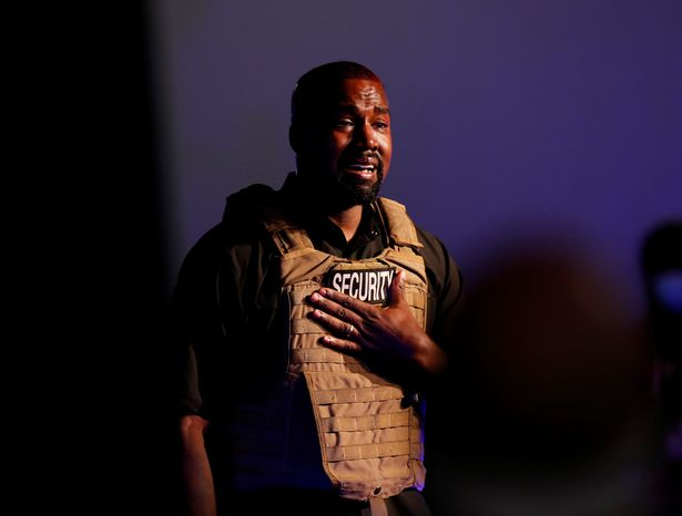 0 Rapper Kanye West gets emotional as he holds his first rally in support of his presidential bid in N