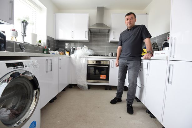 The 46-year-old's kitchen flooded