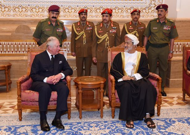 1 Omans newly sworn in Sultan Haitham bin Tariq al Said receives condolences from Britains Prince Ch