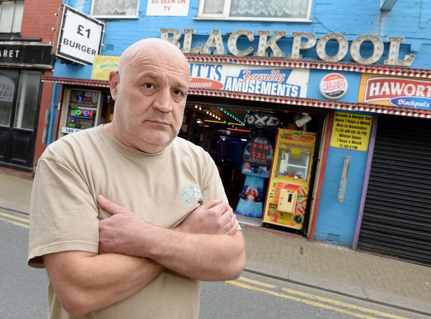 Christopher Higgitts, from Last Vegas Amusements in Blackpool, is fearful for the future