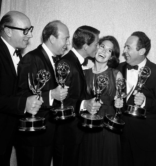 Richard Deacon, Carl Reiner, Dick Van Dyke, Mary Tyler Moore and Jerry Paris at the 16th Annual Primetime Emmy Awards