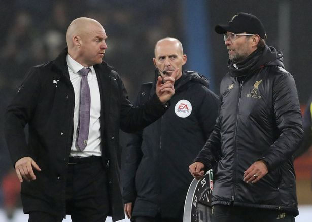 Jurgen Klopp accused Sean Dyche's men for being too physical