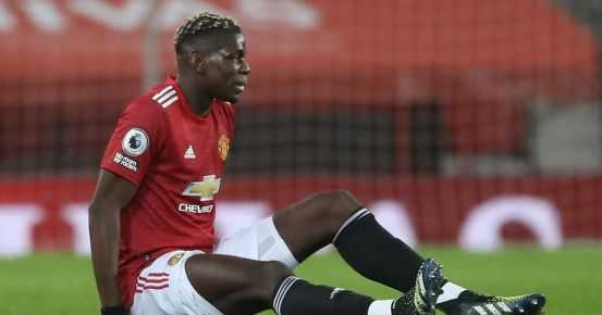 Man Utd fears Paul Pogba could face a longer spell on the sidelines with a thigh problem