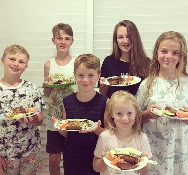 Some of Jeni Bonell's 16 children