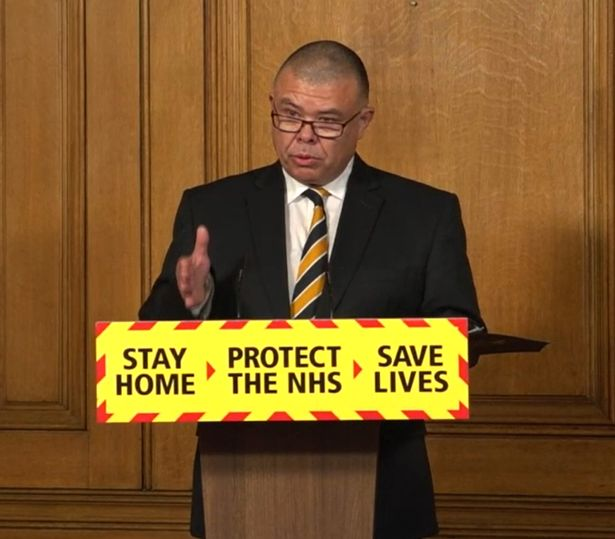 Professor Jonathan Van-Tam at a press conference in Downing Street