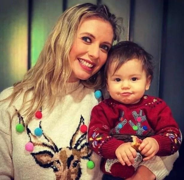 Rachel Riley with her daughter Mave
