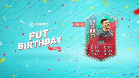 Nick Pope's special was released as SBC at the FIFA 20 FUT birthday event