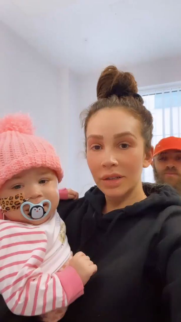 Ashley's partner Safiyya posted a video on her Instagram Stories of the family leaving the hospital