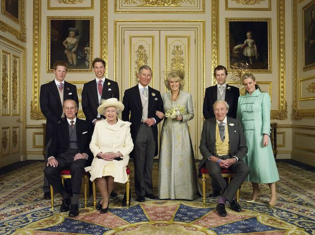 The Royal Family on Charles and Camilla's wedding day