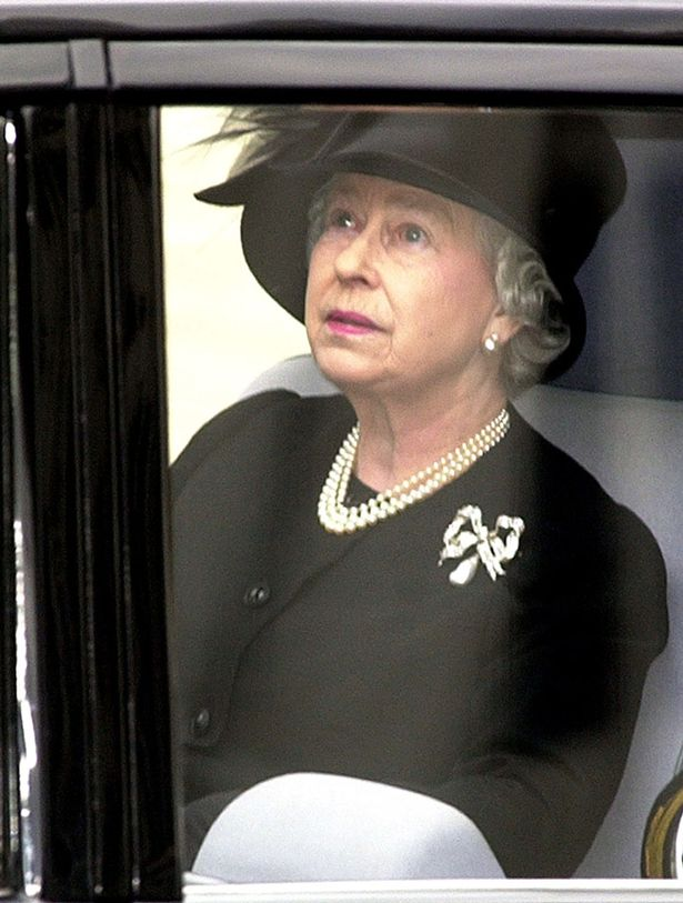 The Queen leaves Westminster Abbey after attending her mother's funeral in 2002