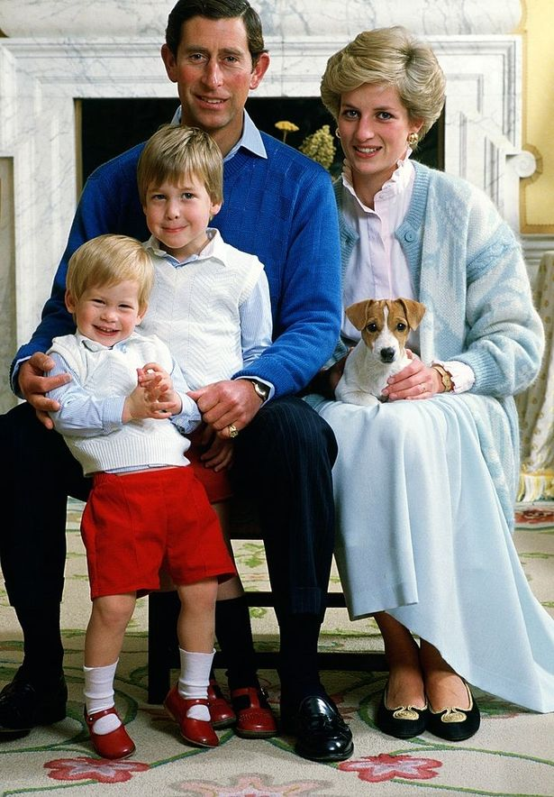 Charles and Diana with William and Harry as children