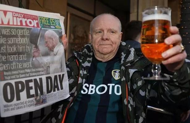 Trevor Deighton in Leeds enjoyed his first pint since lockdown began