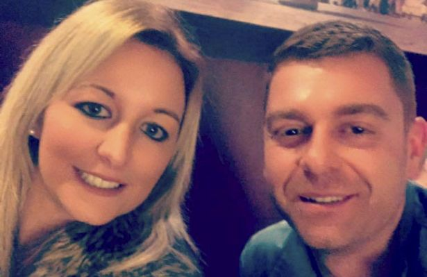 Mr Gilmer with his partner Laura Sugden, who was also injured in the attack