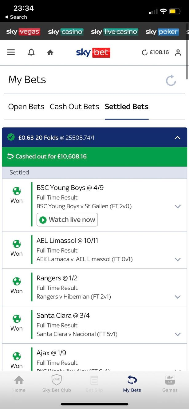The dad won more than £10,000