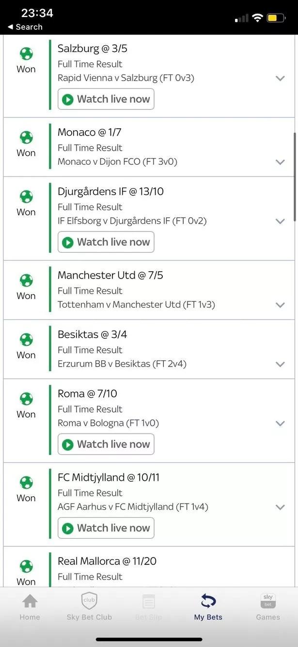 A lucky punter won more than £10,000