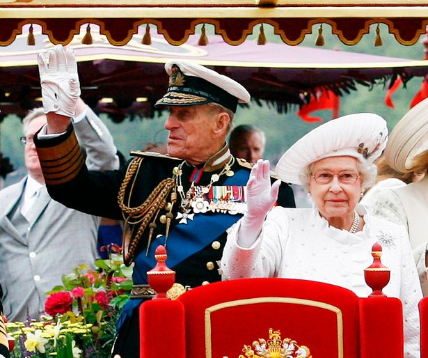 The royal family on board their barge during the Thames Diamond Jubilee pageant