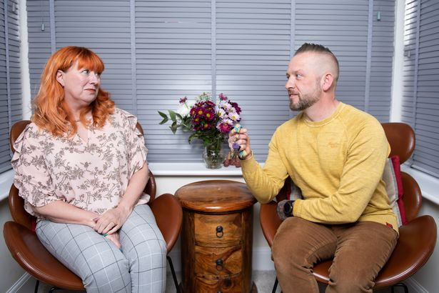 Claire Burke, 54, and husband, David, 48, at their new home in Wetherby