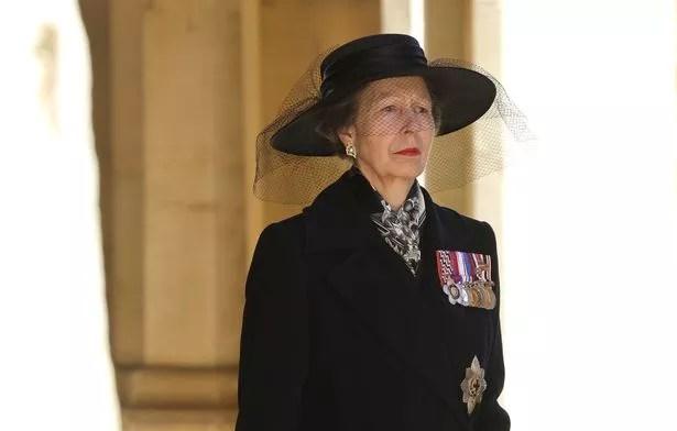 Princess Anne at Duke of Edinburgh's funeral