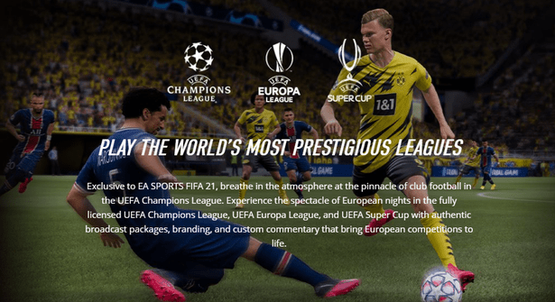 EA obtain image rights for their EA Sports FIFA games through a variety of different sources, including FIFPro and separate deals with major leagues and major clubs around the world.