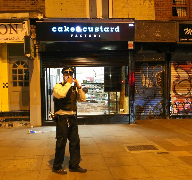 The attack reportedly took place at the Cake and Custard Factory in Kingsland Road