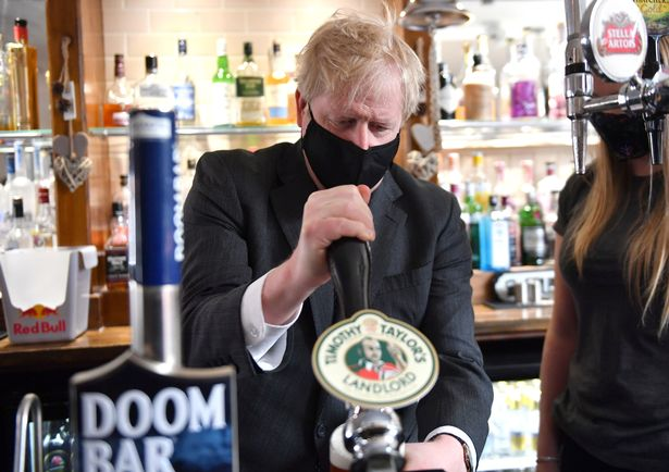 Pubs were allowed to reopen outdoors from April 12 as part of Boris Johnson's lockdown exit plan