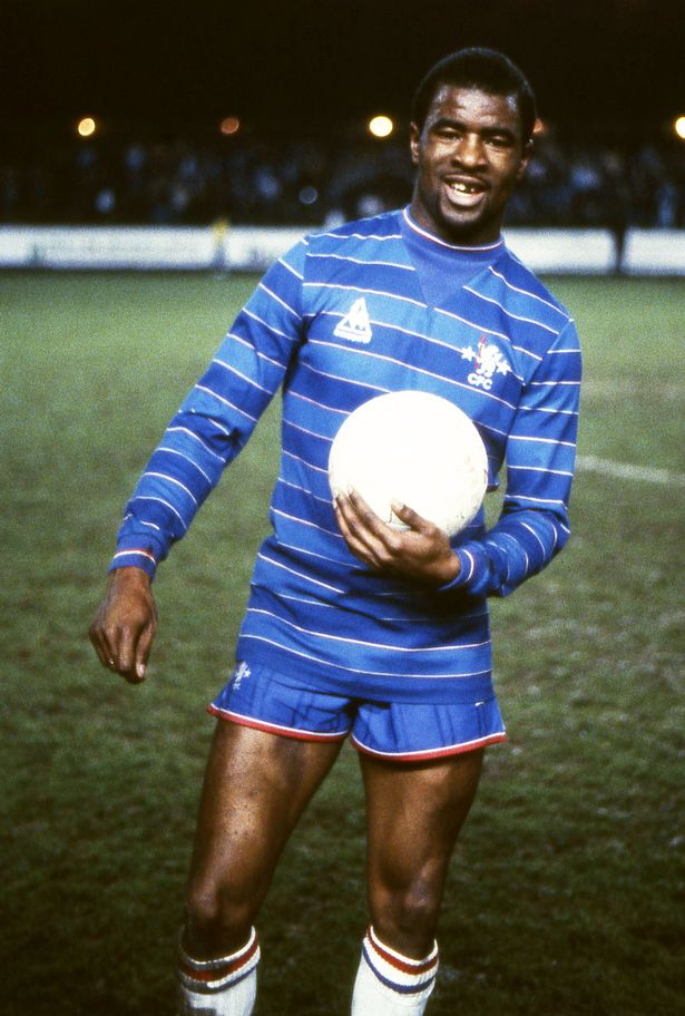 Hat-trick hero Paul Canoville with the match ball after the Chelsea 6 v Swansea City 1 game