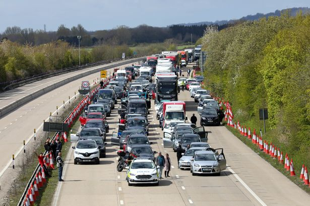Drivers had to wait for hours in their cars