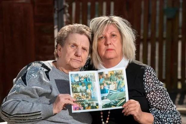 Elaine Johnston with her mum Ena Dorrian