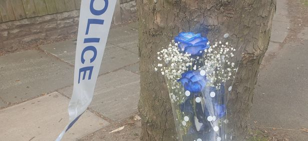 Tributes left at the scene to the teenager